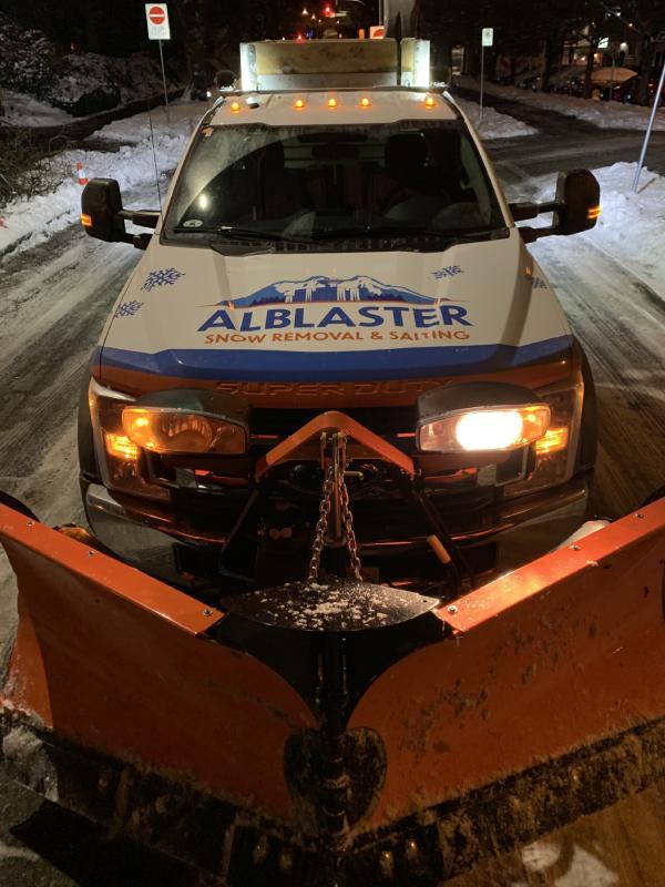 Alblaster snow removal truck