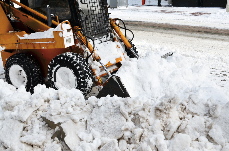 Snow Removal Using Bobcat
